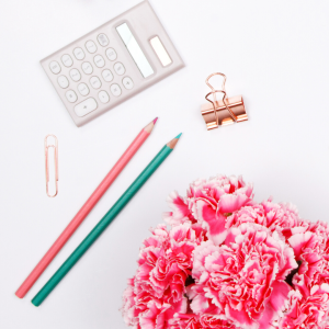 Lead magnet. Email List. Flower. Pencils. Calculator. Paper clip.